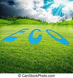 łąka, eco, abstrakcyjny, tła, środowiskowy, projektować, twój