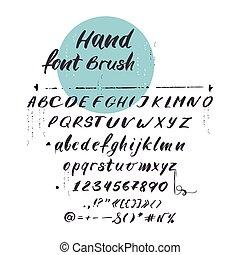 łacina, beletrystyka, alfabet, wektor, font., pochyły, handwritten