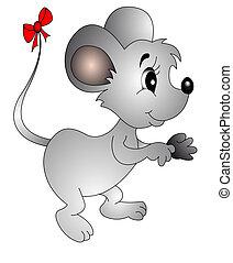 łuk, ogon, mysz, mały