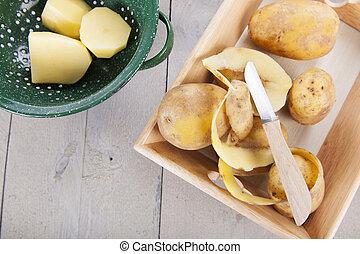 łuszczenie, kartofle