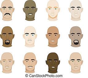 łysy, twarze mężczyzn