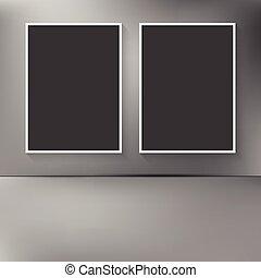 ściana, abstrakcyjny, czysty, dwa, zamazany, wisząc, układa, backg