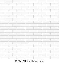 ściana, biała cegła, seamless