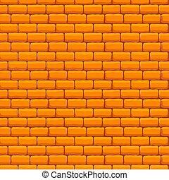 ściana, cegła, żółty, seamless, struktura