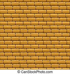 ściana, cegła, beżowy, struktura, seamless