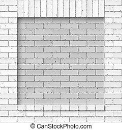 ściana, cegła, murarstwo