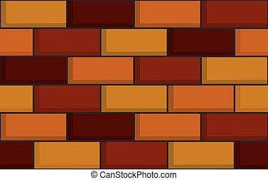 ściana, cegła, seamless, struktura