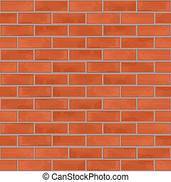 ściana, cegła, seamless, tło