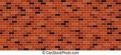 ściana, cegła, stary
