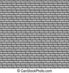 ściana, cegła, szary, struktura, seamless
