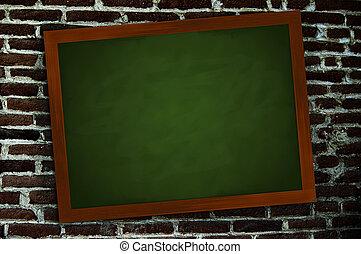 ściana, chalkboard
