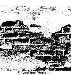 ściana, grunge, wektor