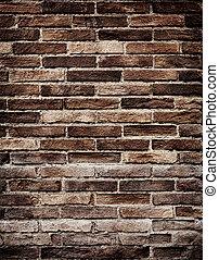 ściana, grungy, cegła, stary, struktura