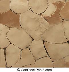 ściana, kamień, wektor, texture.