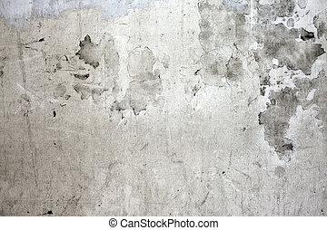 ściana, konkretny, pęknięty, grunge