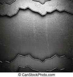 ściana, metal, tło