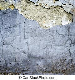 ściana, pęknięty, wektor, stiuk, struktura