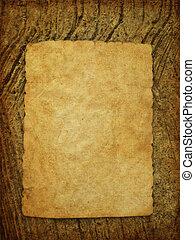 ściana, papier, stary