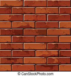 ściana, próbka, struktura, wektor, tło, cegła