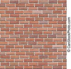 ściana, struktura, cegła