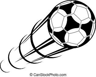 ślad ruchu, piłka do gry w nogę, pędzenie