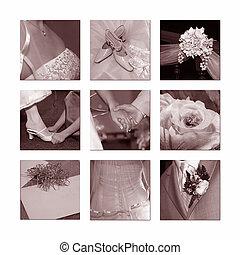ślub, collage