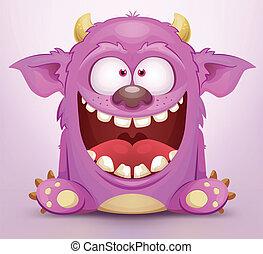 śmiech, potwór