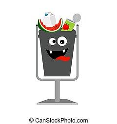 śmieci, organiczny, może, odpadki