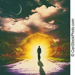 śni, abstrakcyjny, tła, projektować, wynikać, twój