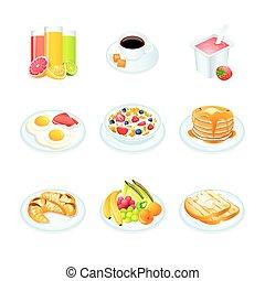 śniadanie, ikony