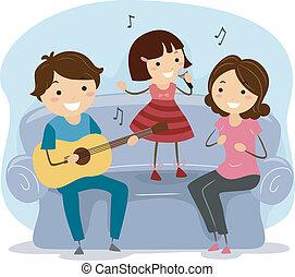 śpiew, rodzina