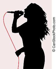śpiew, samica