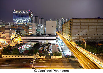 śródmieście, miejski, noc