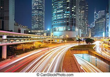 śródmieście, noc, handel, powierzchnia