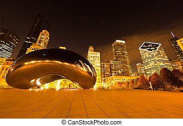śródmieście, park, milenium, chicago