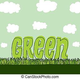 środowisko, czysty, zielony, /, copyspace