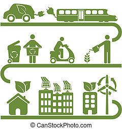 środowisko, energia, zielony, czysty