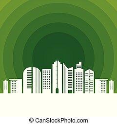 środowisko, miasto, otwór, zielony, czysty