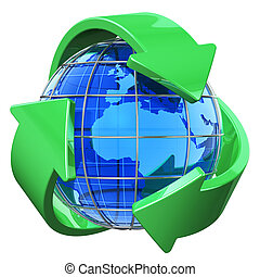środowisko, pojęcie, recycling, ochrona