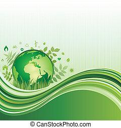 środowisko, zielone tło