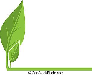 środowiskowy, liście, tło