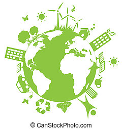 środowiskowy, zielona ziemia