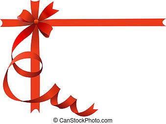 świąteczny, czerwony łuk