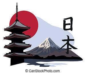 świątynia, pagoda, fuji