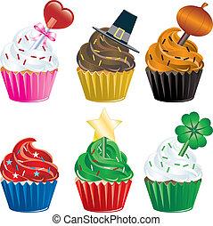 święto, cupcakes
