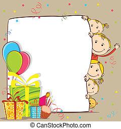 świętując, dzieciaki, urodziny