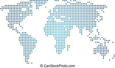 świat, abstrakcyjny, wektor, mapa