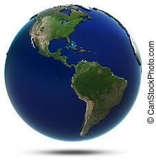 świat, ameryka, mapa