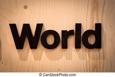 świat, drewno, typ