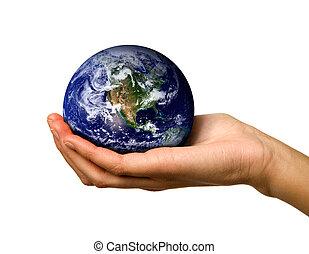 świat, dzierżawa ręka